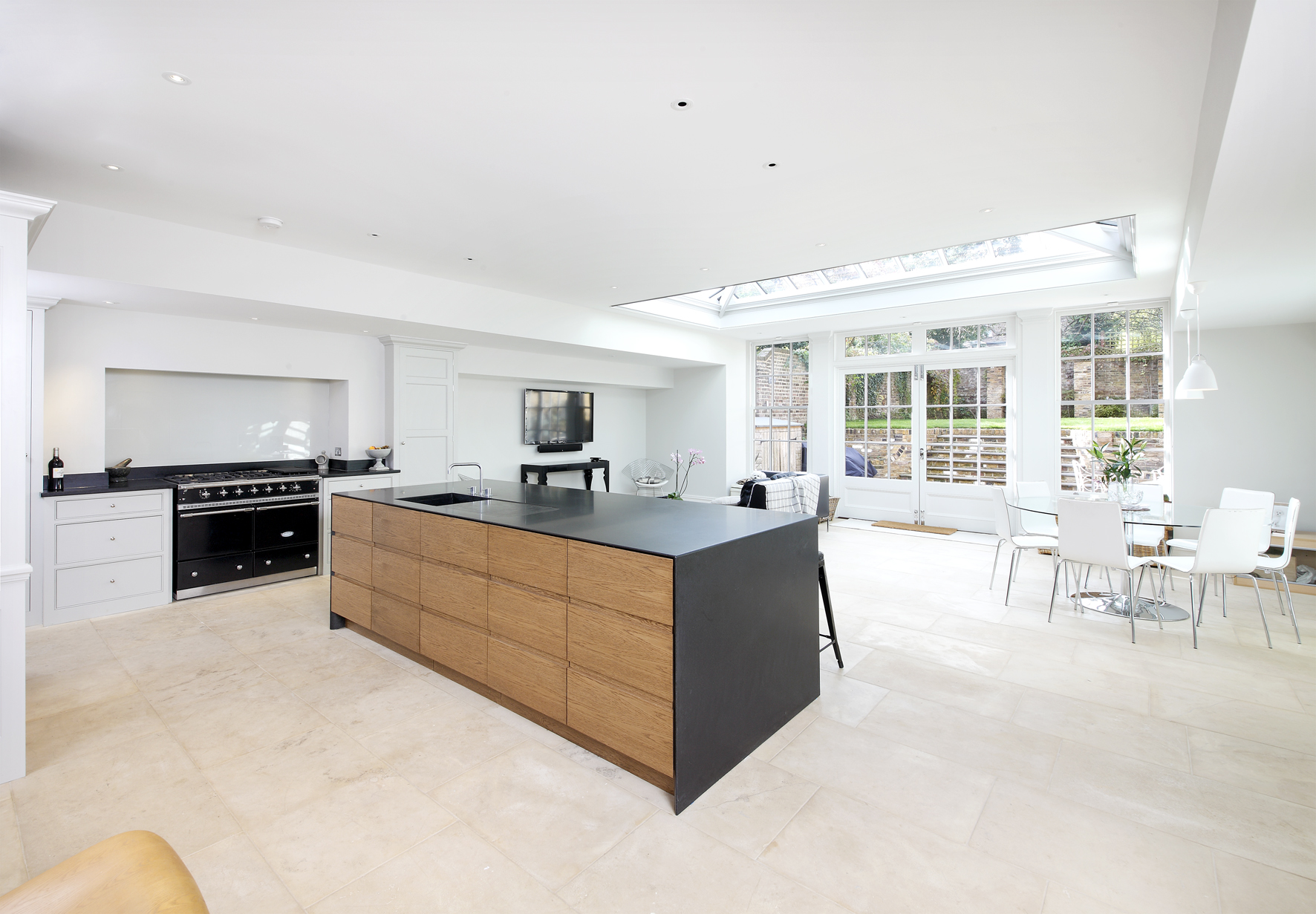 creativemass - roof lights, natural light, open plan living, kitchen, dining, interior