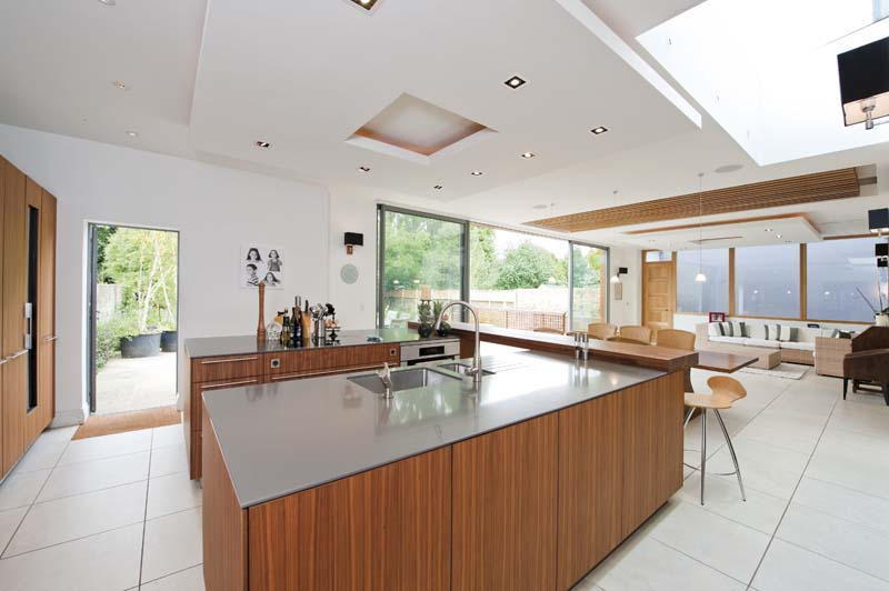 creativemass - extension, glazing, kitchen, open plan living, London
