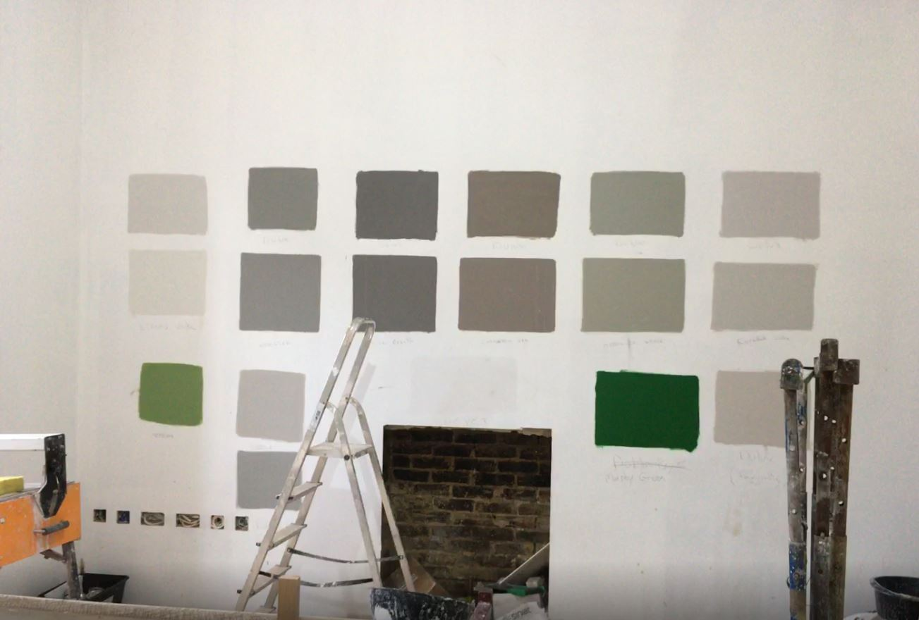 creativemass - work in progress, farrow and ball, paint colours, samples
