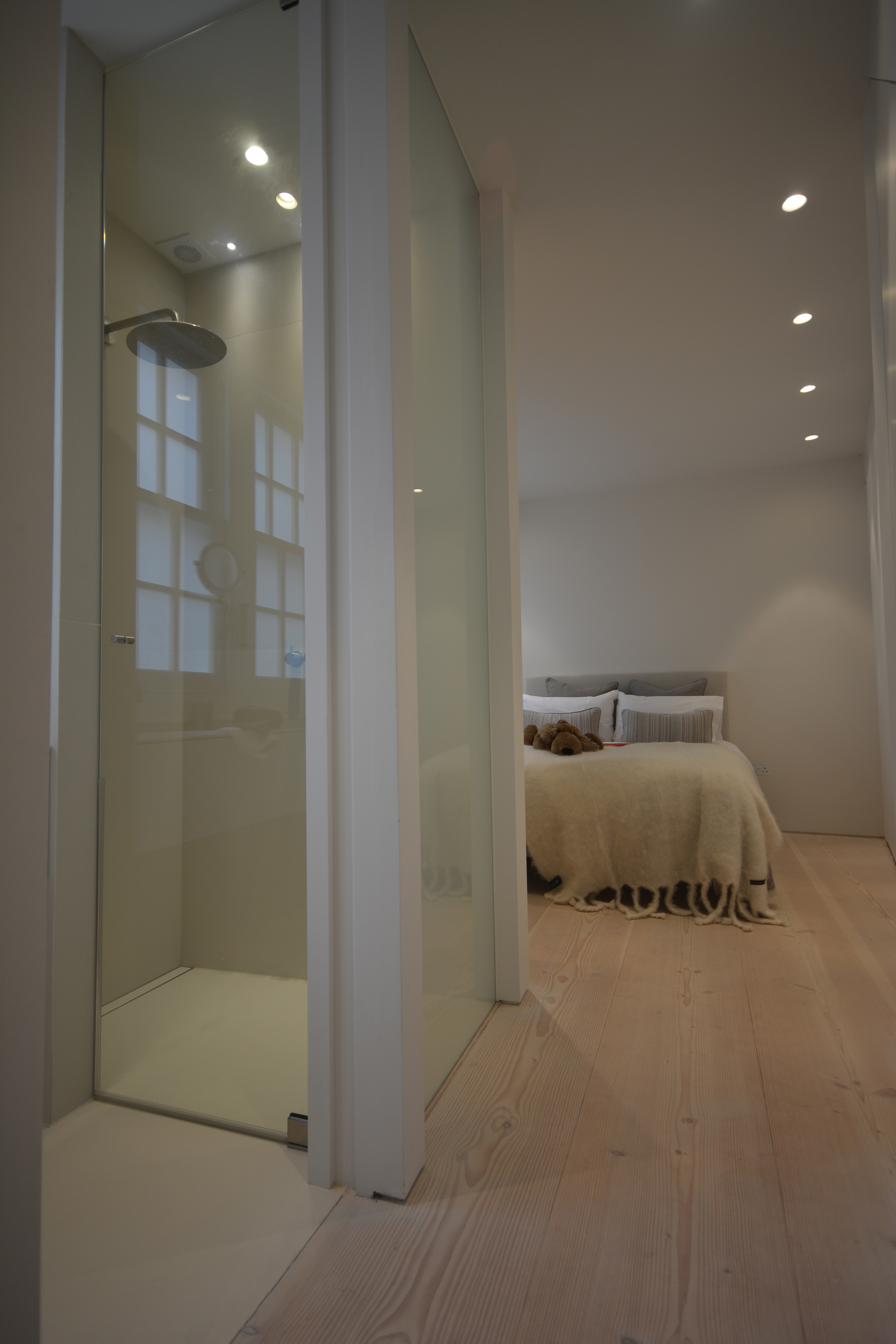 creativemass - basement extension and internal remodelling, bathroom design, dinesen wood, mews house, London