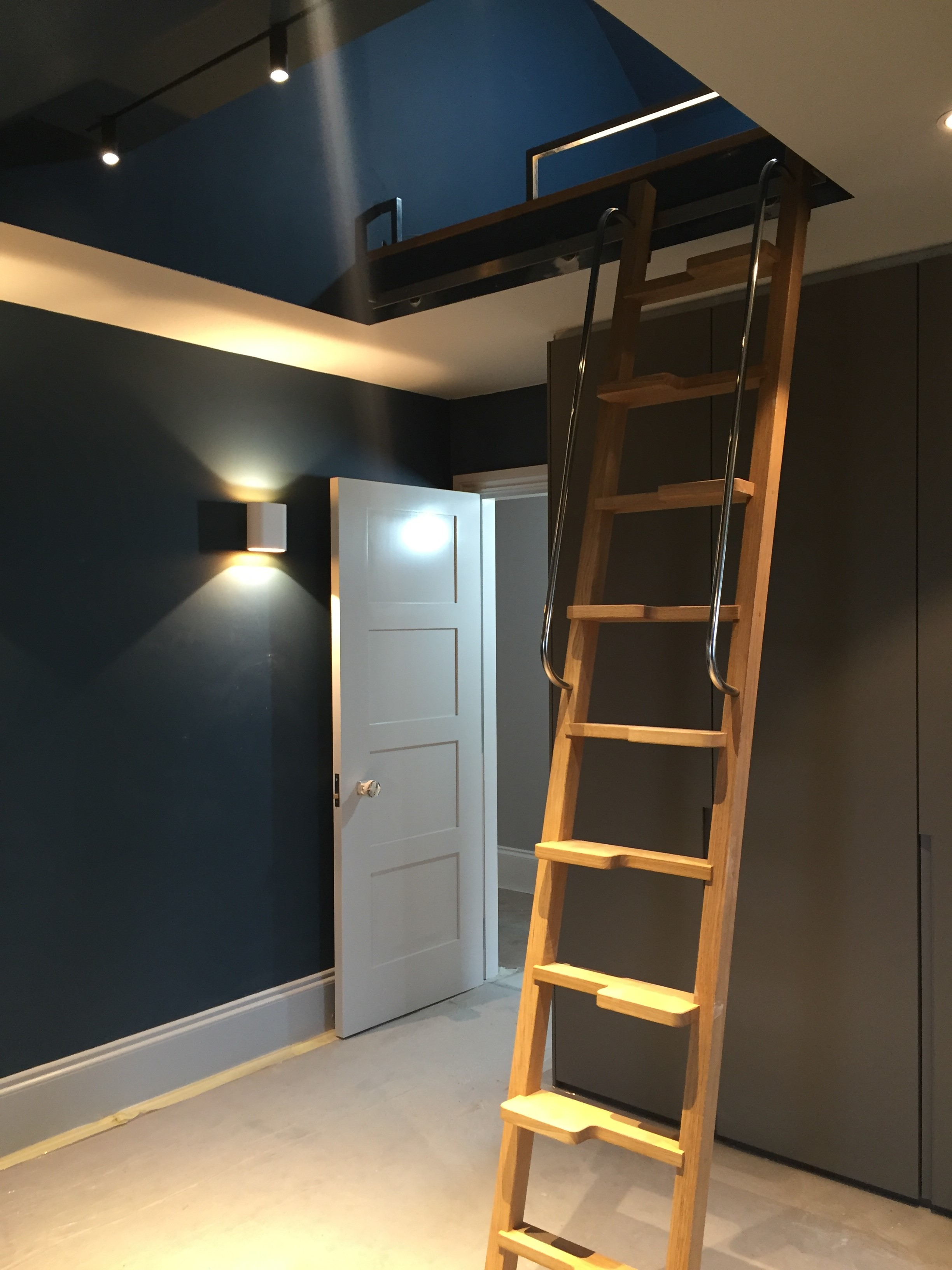creativemass - bed deck, ladder, oak, attic space, London