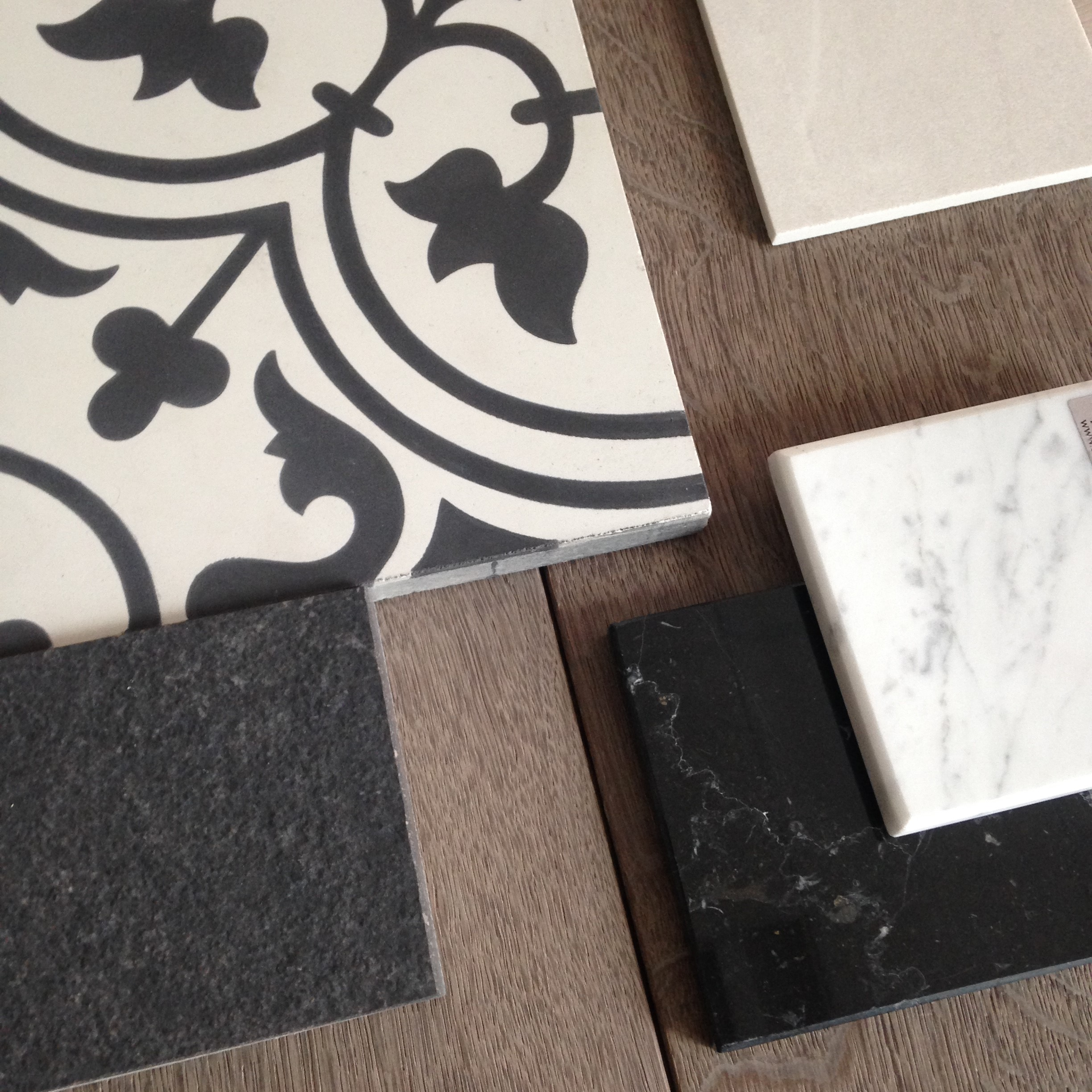 creativemass - mood board, victorian tiles, fired earth, interior scheme, marble, London