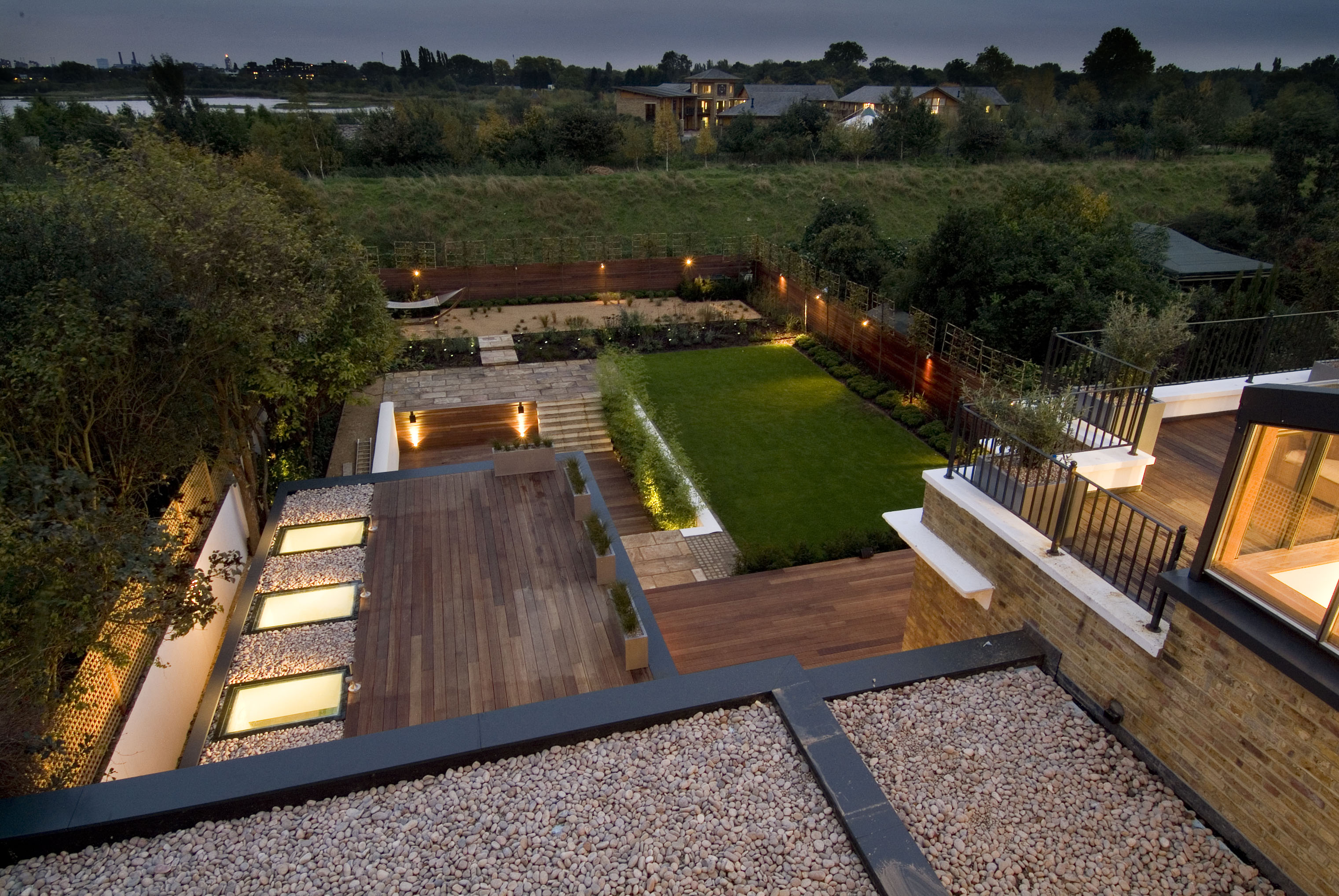 creativemass - basement and rear extension, landscape design, terraced landscaping, swimming pool, roof terrace, London