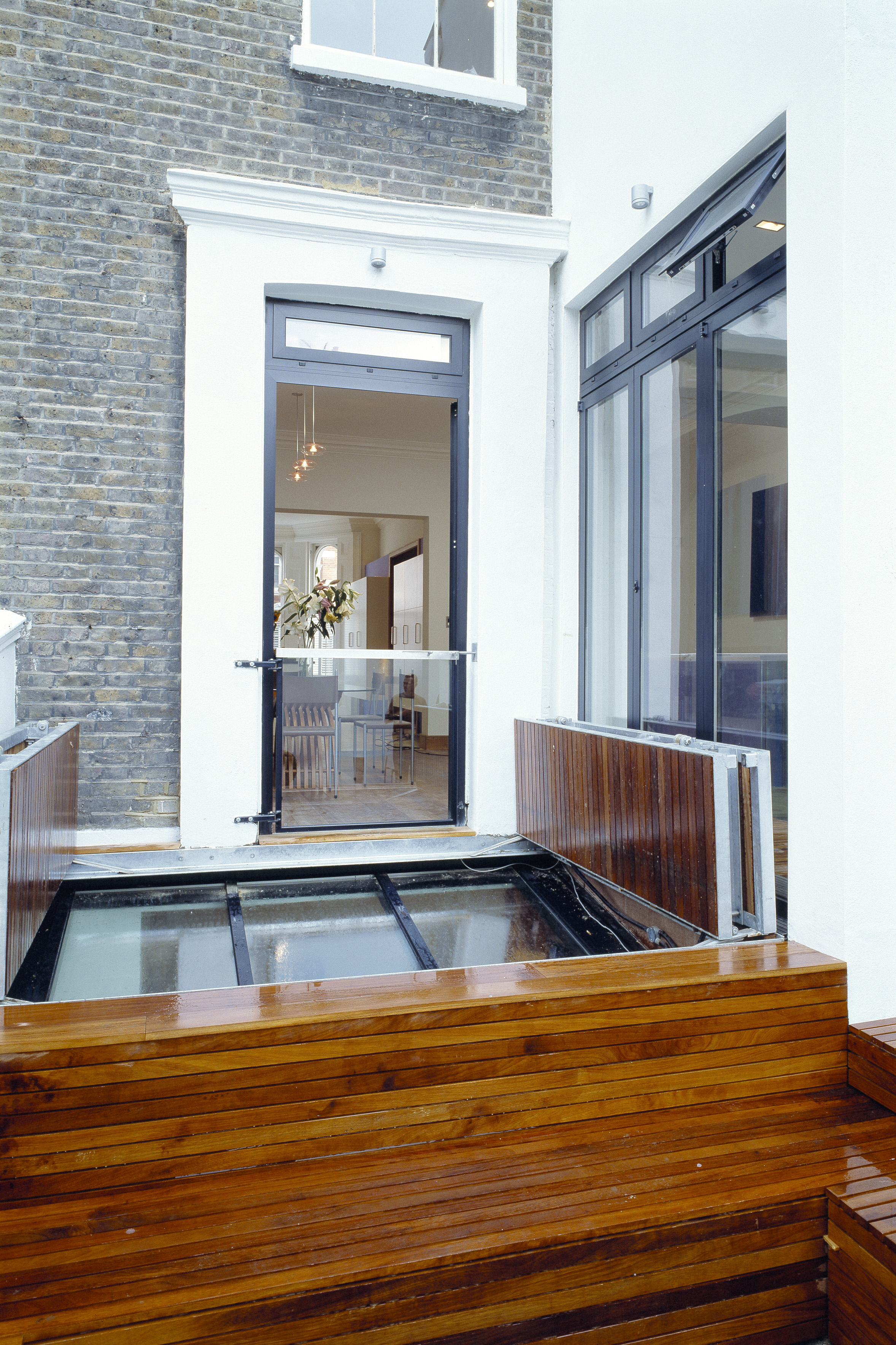 creativemass - basement, sliding roof light, terrace design, London