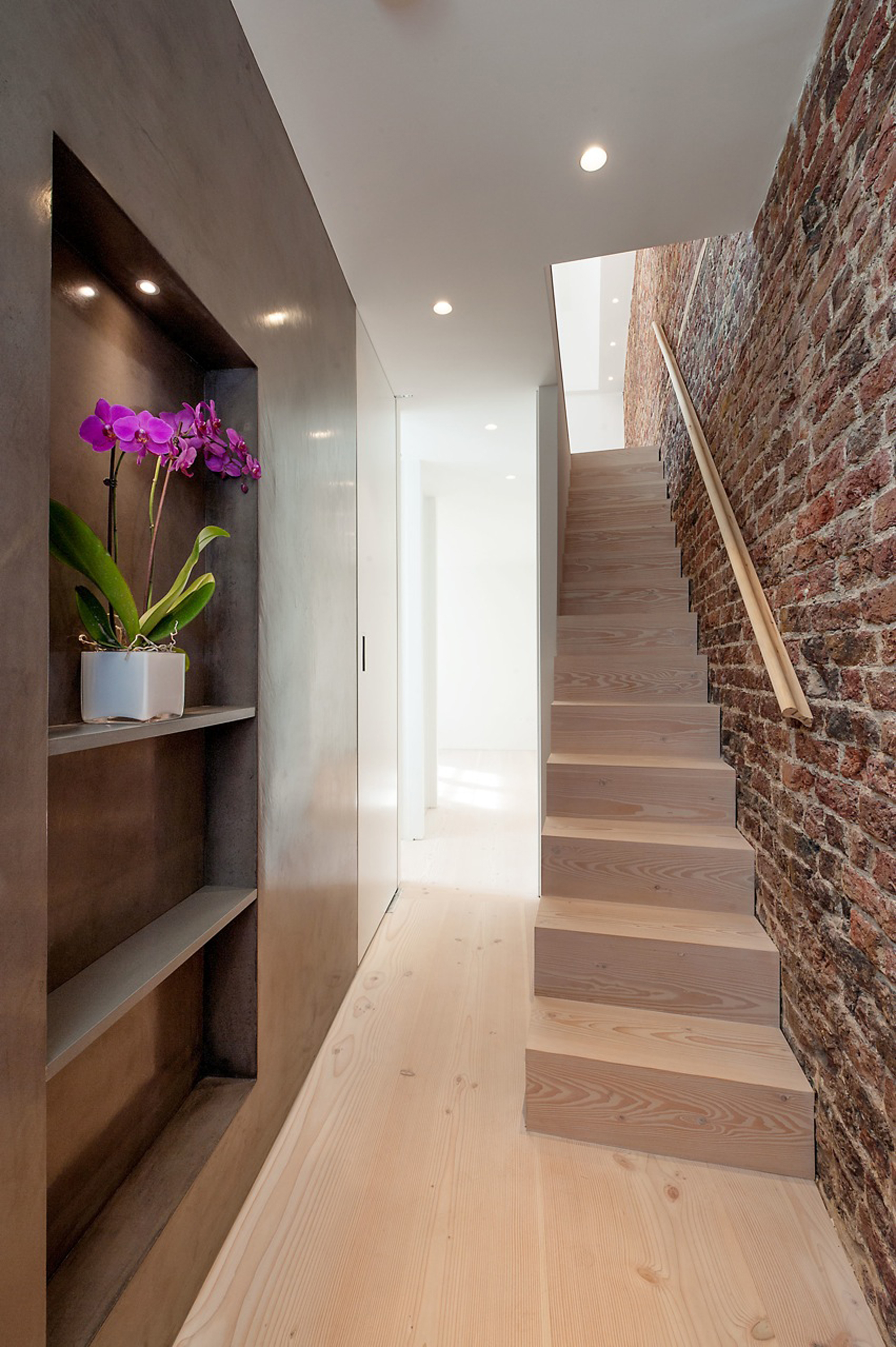 creativemass - basement extension and internal remodelling, light, staircase design, dinesen wood, mews house, London