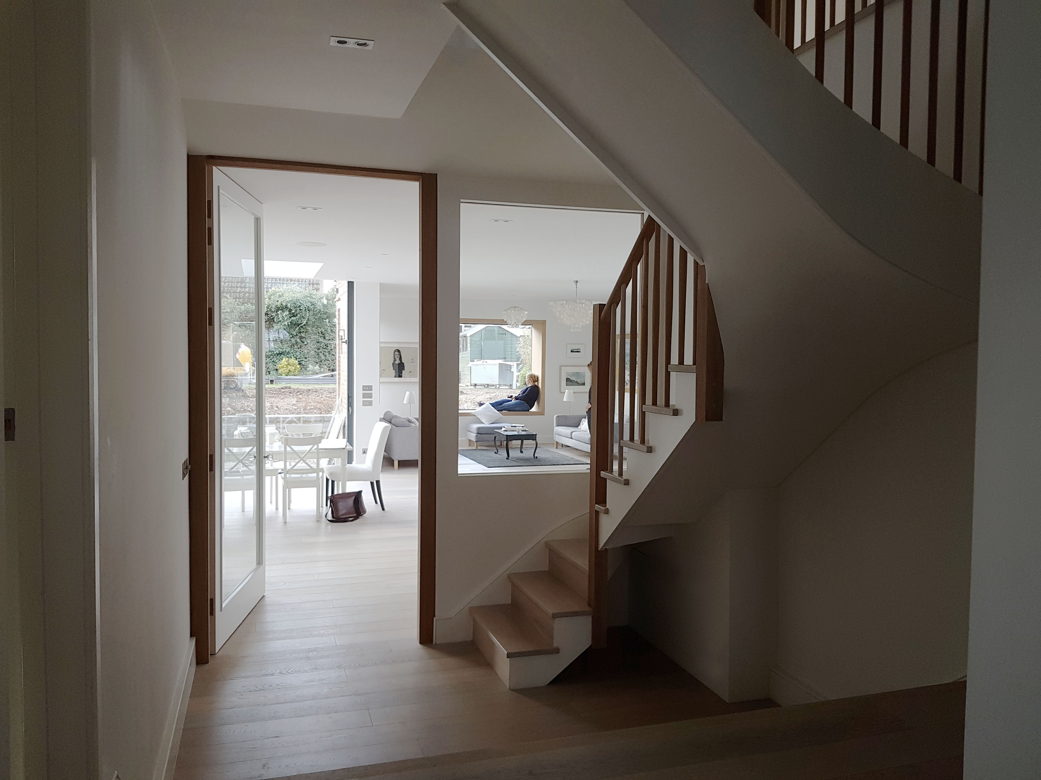 creativemass - rear extension and internal remodelling, light, staircase, open plan living, openings, London