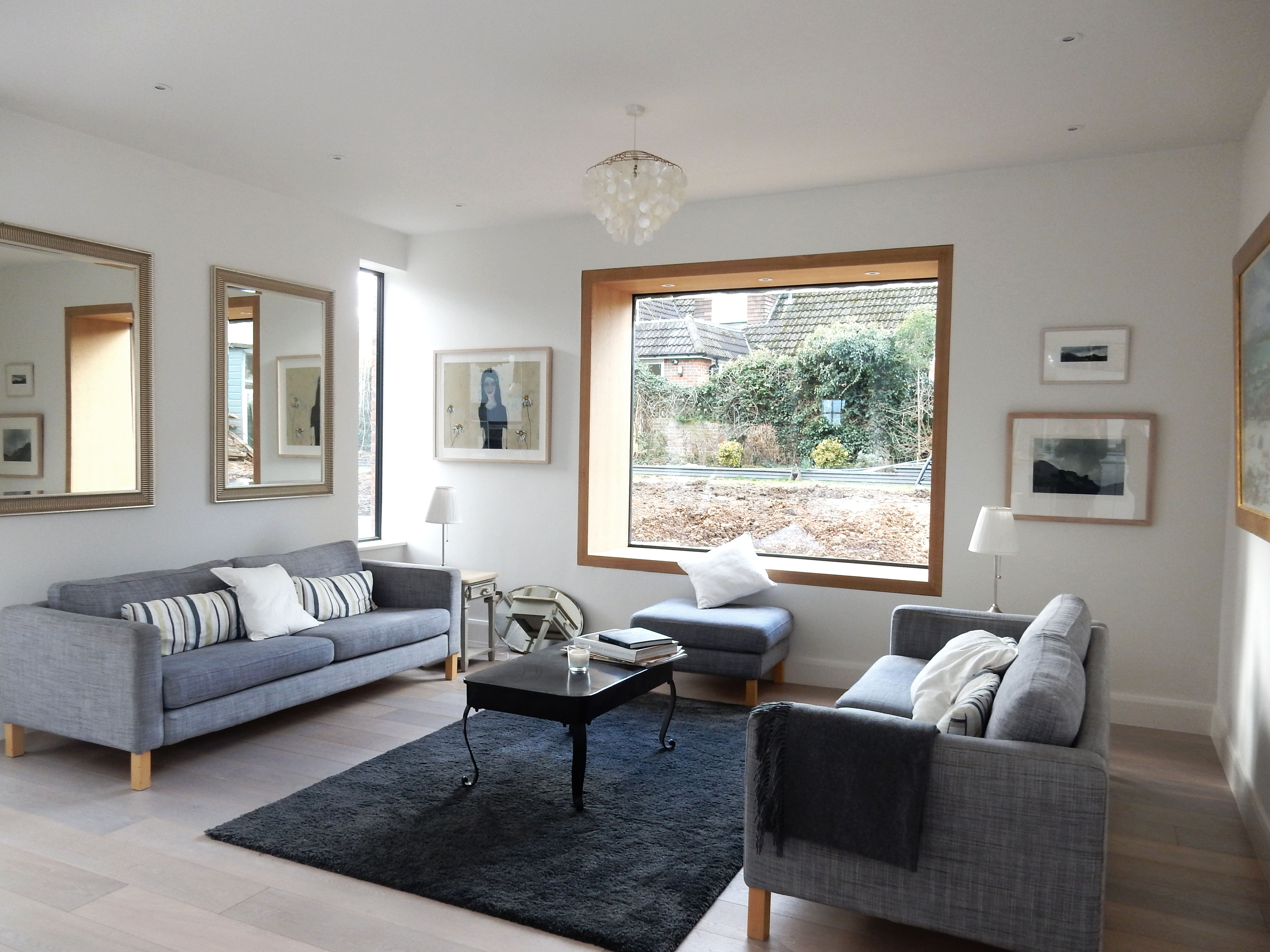 creativemass - rear extension and internal remodelling, light, living room, open plan living, opening, London