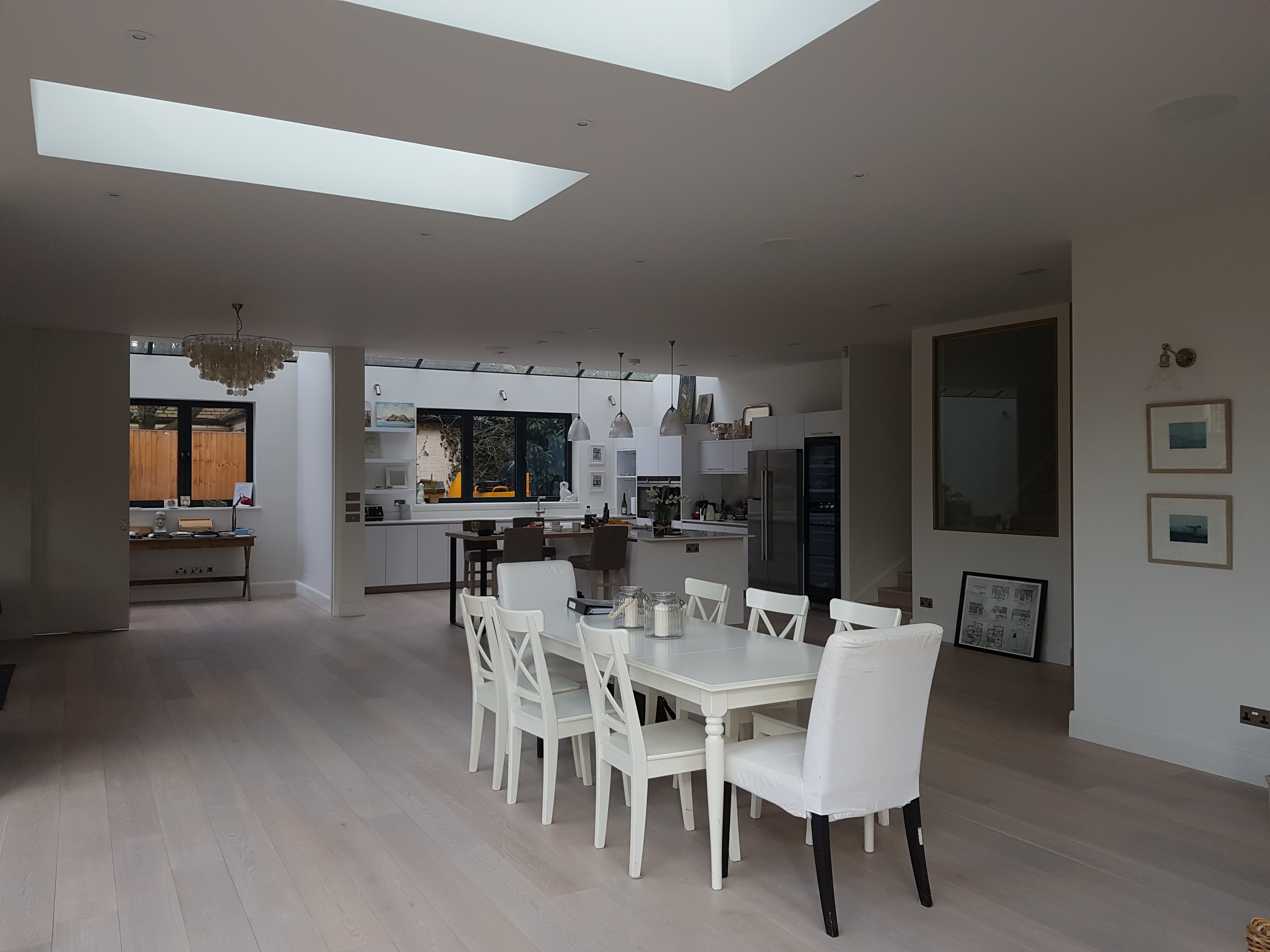 creativemass - rear extension and internal remodelling, light, dining, kitchen, living room, office, open plan living, London