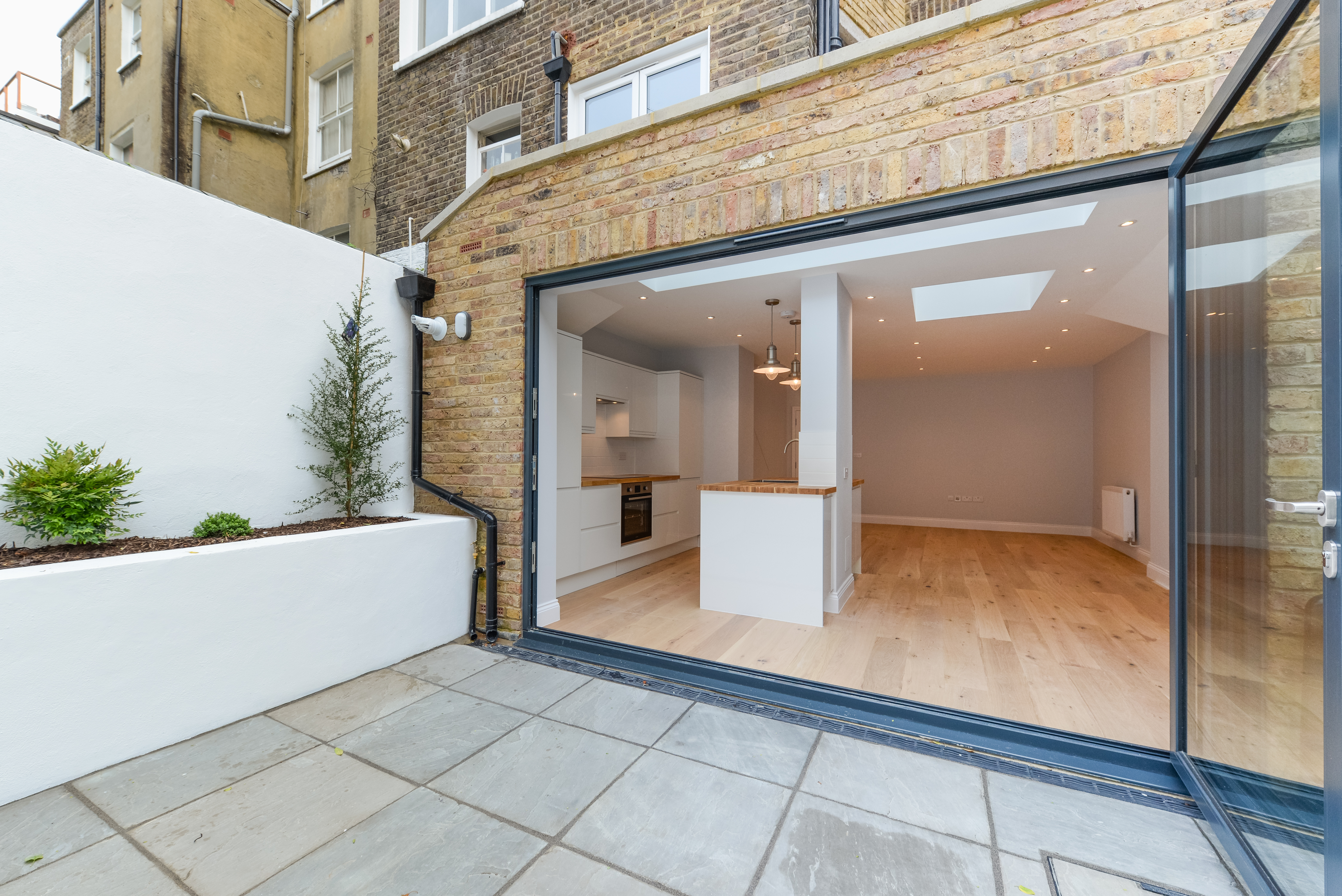 creativemass - rear extension and internal remodelling, light, living room, open plan living, kitchen, opening, London