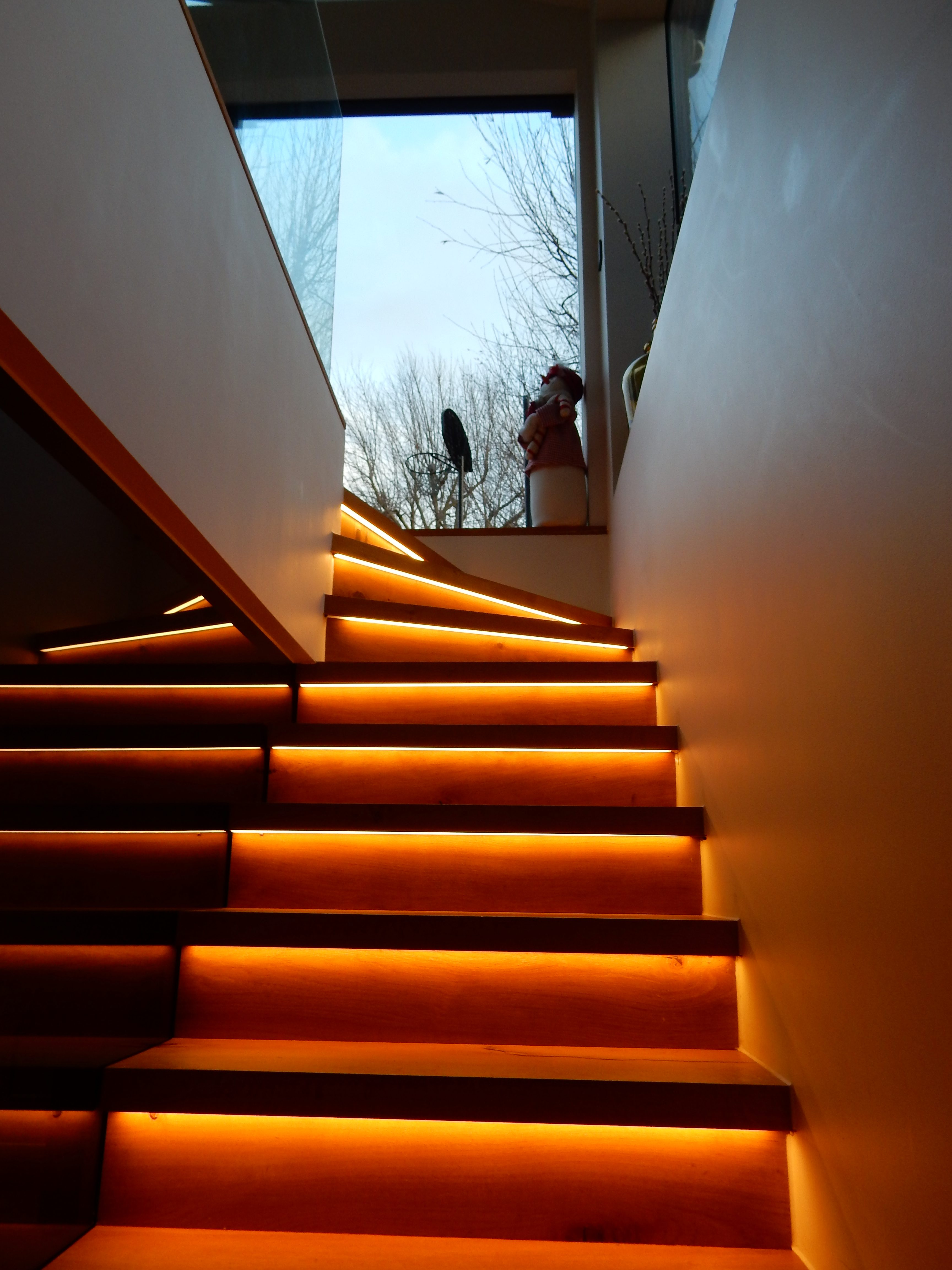 creativemass - staircase, glow, lighting, London