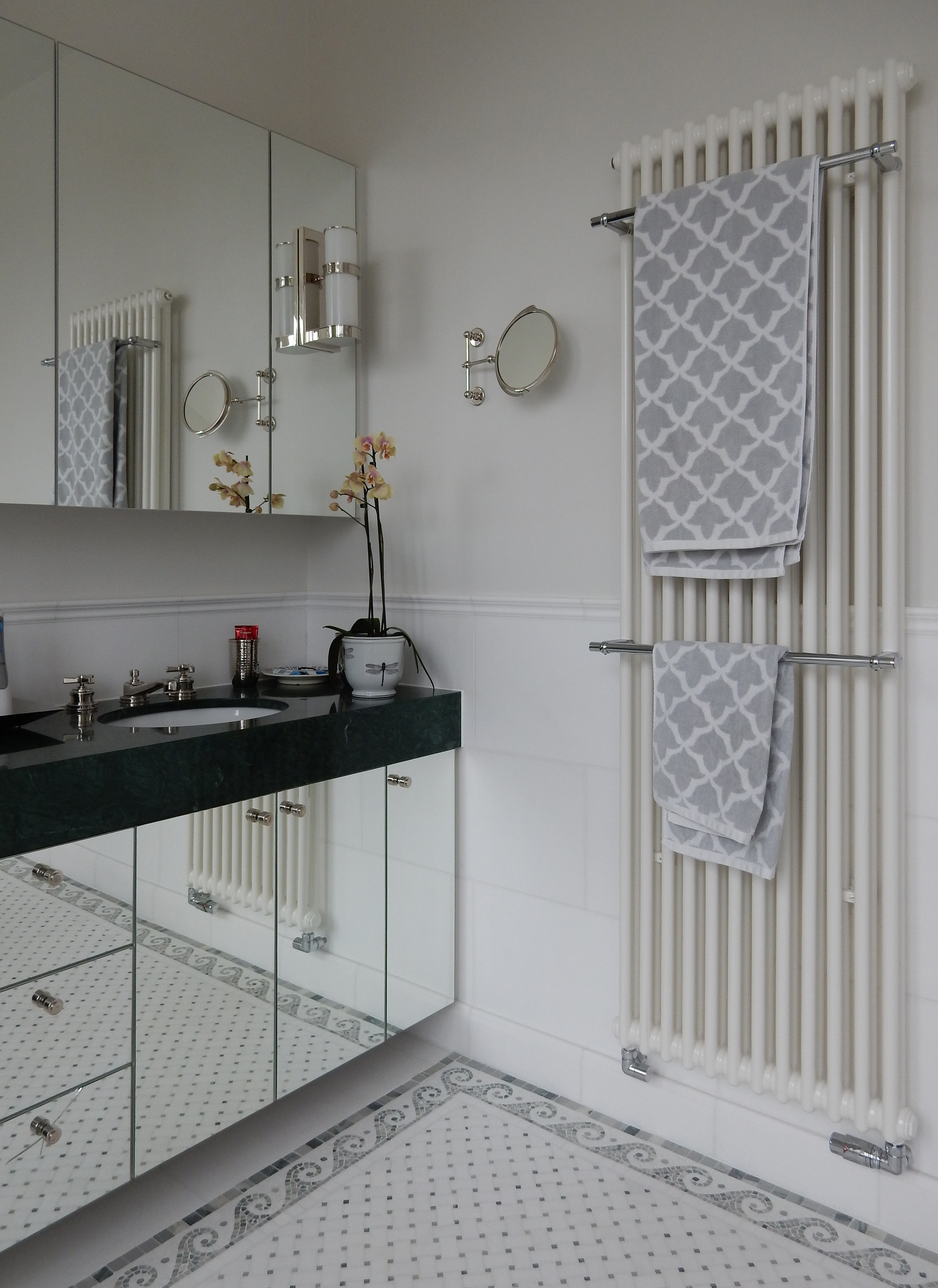 creativemass - basement extension and internal remodelling, light, bathroom, bisque radiator, London